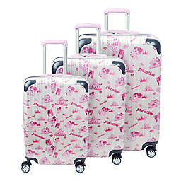 ful® Disney® Princess Hard Side Spinner Luggage Collection in White/Pink