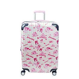 ful® Disney® Princess 29-Inch Hard Side Checked Spinner Luggage in White/Pink