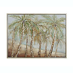 Ridge Road Décor Green Coconut Tree 48-Inch x 37-Inch Extra-Large Canvas Wall Art