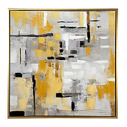 Ridge Road Décor Contemporary Abstract 39.5-Inch x 39.5-Inch Painting Wall Art