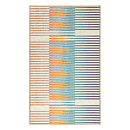 My Magic Carpet Flux Striped 3' x 5' Multicolor Area Rug