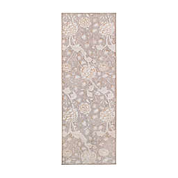 My Magic Carpet Kalini Floral 2'6 x 7' Washable Runner in Natural