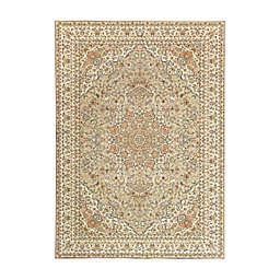 My Magic Carpet Kenya 5' x 7' Washable Area Rug in Beige
