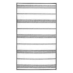 My Magic Carpet 3' x 5' Striped Area Rug in Grey/White