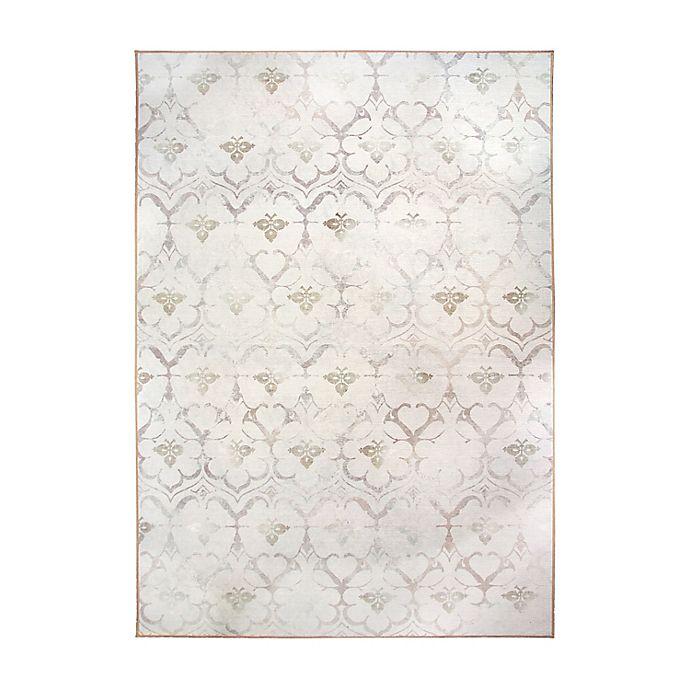 Alternate image 1 for My Magic Carpet Leilani Damask Washable Area Rug