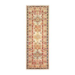 My Magic Carpet Ottoman 2'6 x 7' Washable Runner in Red/Cream