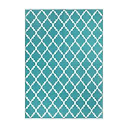 My Magic Carpet Moroccan Trellis Rug in Teal