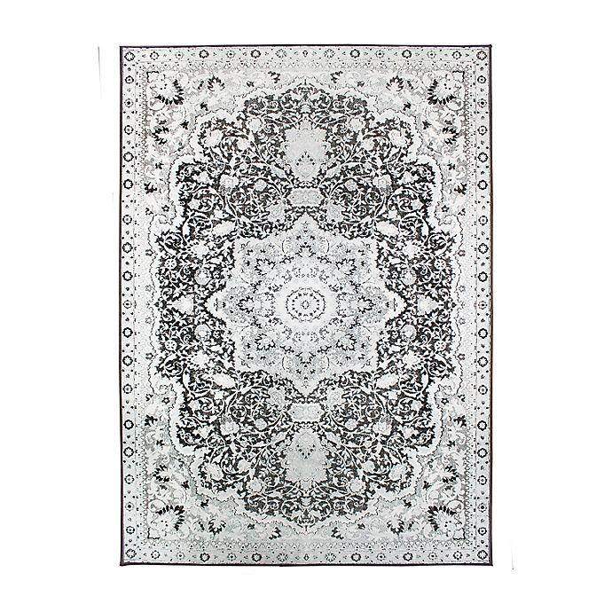 Alternate image 1 for My Magic Carpet Parviz Washable Area Rug in Grey