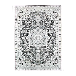 My Magic Carpet Parviz Washable Area Rug in Grey