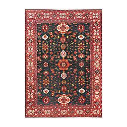 My Magic Carpet Ramage Washable Area Rug in Indigo