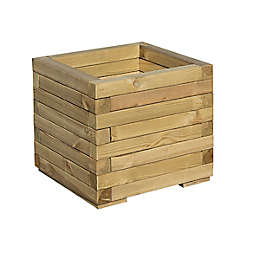 Bosmere Timber Outdoor Square Planter Box in Brown