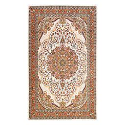 My Magic Carpet Zahara Washable Rug in Amber/Ivory