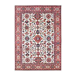 My Magic Carpet Ramage Washable Rug in Maroon