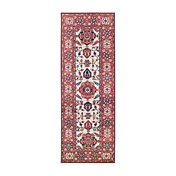 My Magic Carpet Ramage 2'6 x 7' Washable Runner in Maroon