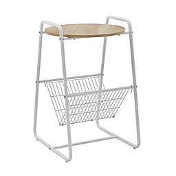 Simply Essential™ Metal Book Rack Side Table in White
