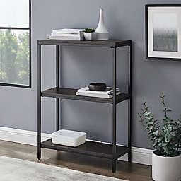 Simply Essential™ 3-Shelf Metal Bookcase in Black