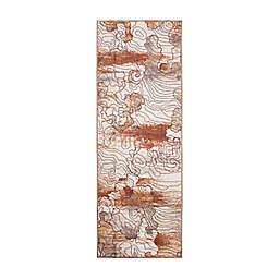 My Magic Carpet Vienna Abstract 2'6 x 7' Runner in Natural