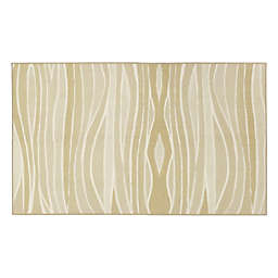 My Magic Carpet Waves 3' x 5' Washable Area Rug in Natural