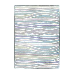 My Magic Carpet Waves Rug in Ocean Blue