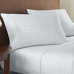 Boutique Living® 1200-Thread-Count 6-Piece Queen Sheet Set in White Print
