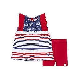 Burt's Bees Baby® 2-Piece July Night Sky Tunic and Bike Short Set in Blue/Red