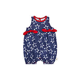 Burt's Bees Baby® Painted Stars Organic Cotton Bubble Romper in Blue/White