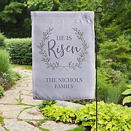"""""""He Is Risen"""" Garden Flag in Grey"""