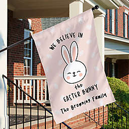 """""""We Believe in the Easter Bunny"""" House Flag"""