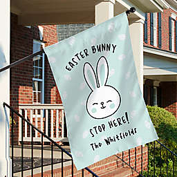 """""""Easter Bunny Stop Here"""" House Flag"""
