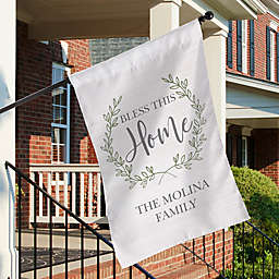 """""""Bless This Home"""" House Flag"""
