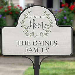 """""""Bless This Home"""" Magnetic Garden Sign"""