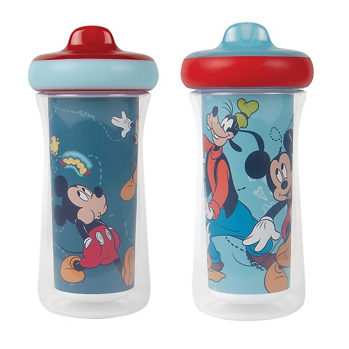 Alternate image 1 for The First Years™ Disney® Mickey Mouse 2-Pack 9 oz. Insulated Sippy Cups