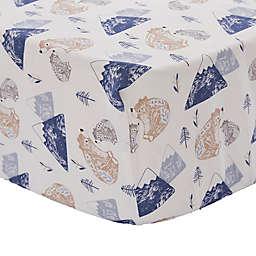 Levtex Baby® Rowan Bear Fitted Crib Sheet in Blue/Grey