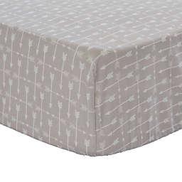 Levtex Baby® Rowan Arrow Fitted Crib Sheet in Grey