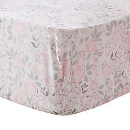 Levtex Baby® Colette Floral Fitted Crib Sheet in Pink