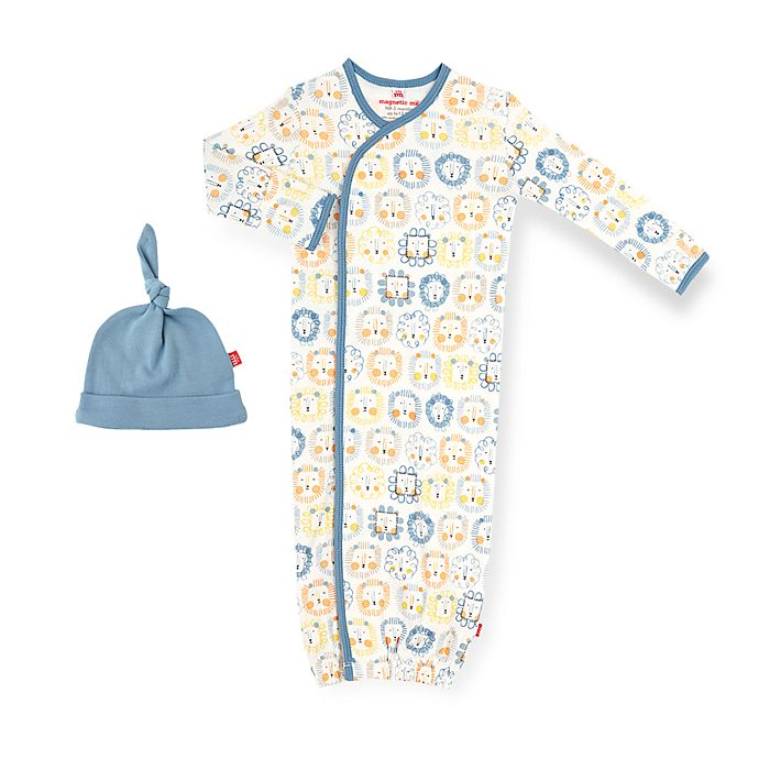 Magnetic Me By Magnificent Baby Size 0 3m Mane Event Magnetic Gown And Hat Set In Blue Buybuy Baby