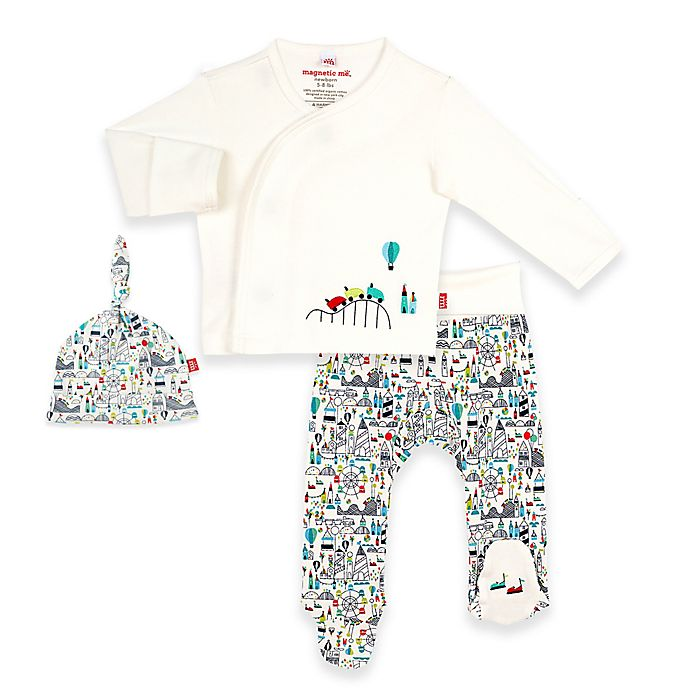 Alternate image 1 for Magnetic Me® by Magnificent Baby Fun Fair Pant Set in White/Multi