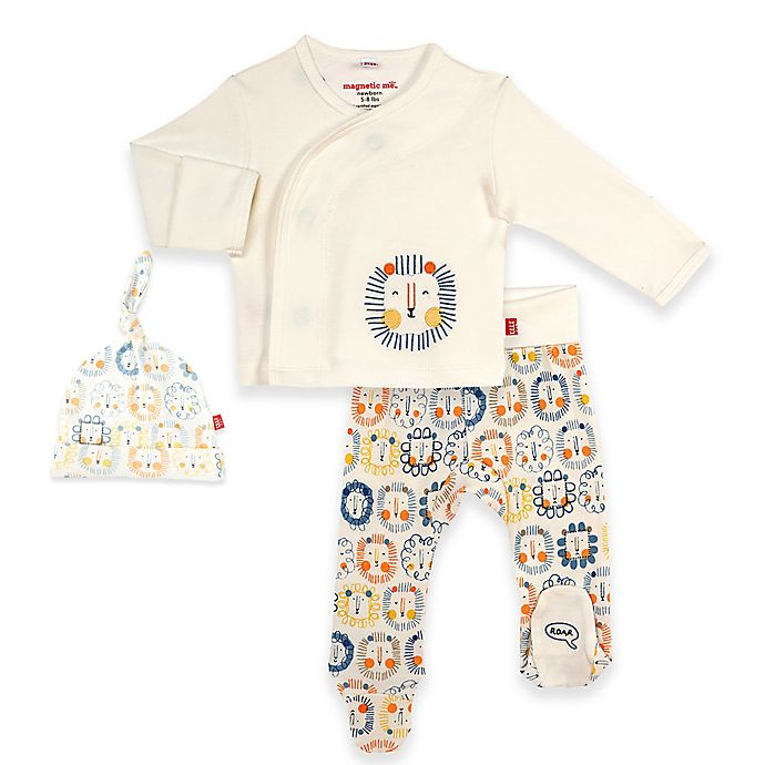 Alternate image 1 for Magnetic Me® by Magnificent Baby Mane Event Pant Set in Cream/Blue/Orange