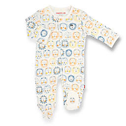 Magnetic Me® by Magnificient Baby Preemie Mane Event Magnetic Footie in White/Blue