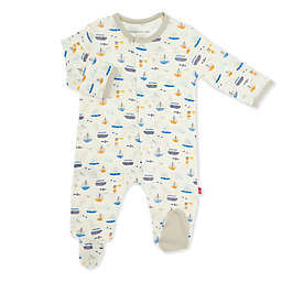 Magnetic Me® by Magnificient Baby Monterey Bay Magnetic Footie in Grey