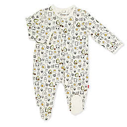Magnetic Me® by Magnificient Baby Preemie Brunch Bunch Magnetic Footie in White