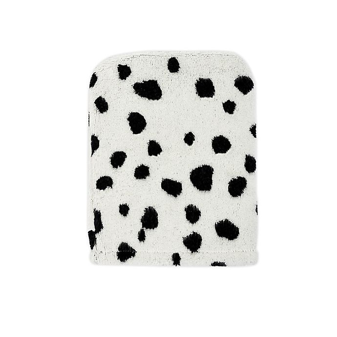 Alternate image 1 for Marmalade™ Cotton Wash Mitt in Black Dots