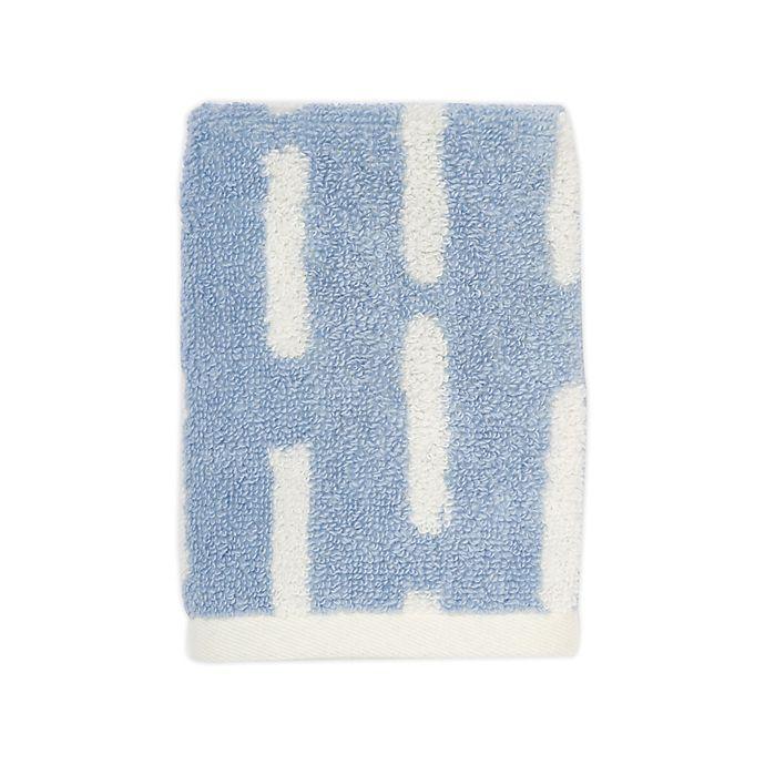 Alternate image 1 for Marmalade™ Cotton Washcloth in Blue Stripe