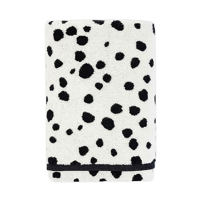 Alternate image 1 for Marmalade™ Cotton Bath Towel in Black Dots