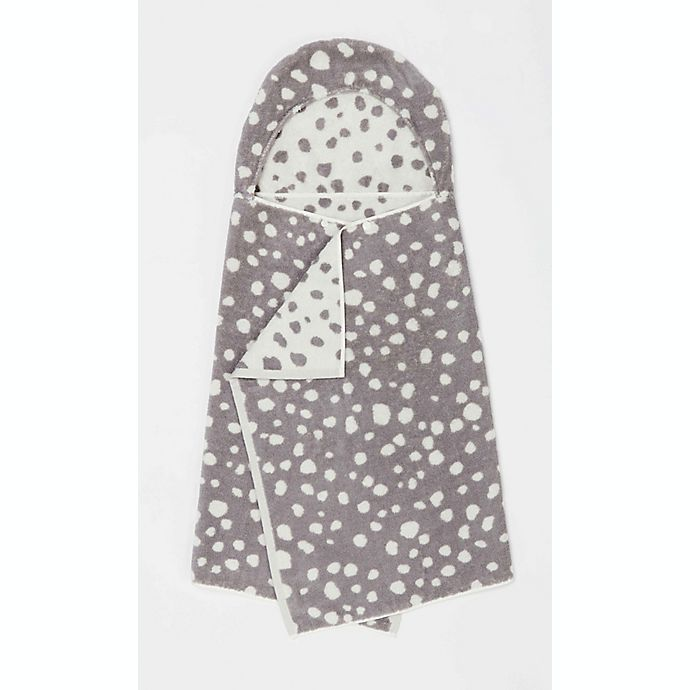 Alternate image 1 for Marmalade™ Cotton Hooded Bath Towel in White Dots