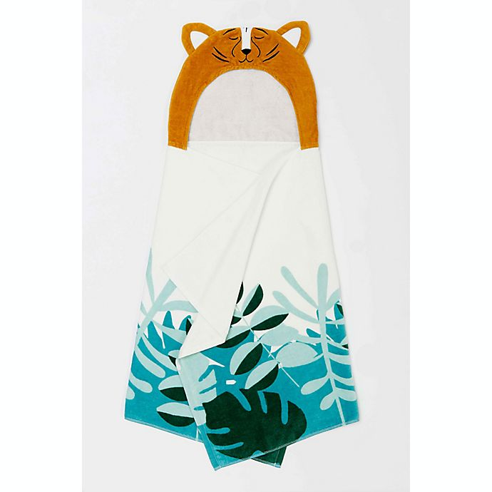 Alternate image 1 for Marmalade™ Cotton Hooded Bath Towel in Tiger