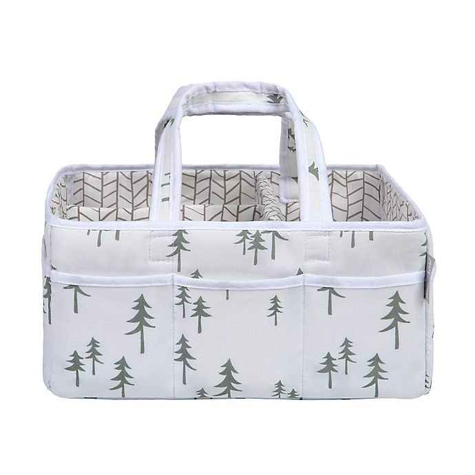 Alternate image 1 for Trend Lab® Mountain Baby Storage Caddy in Green/Grey