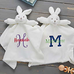 Playful Name Baby Bunny Personalized Security Blanket