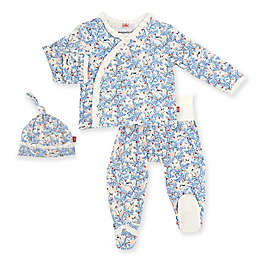 Magnetic Me® by Magnificent Baby Size 0-3M Somebunny Floral 3-Piece Pant Set