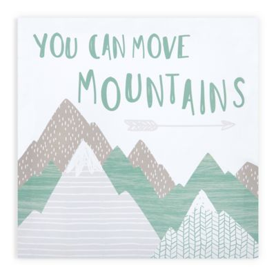 Be brave little one adventure awaits you/'ll move mountains arrow crib fitted sheet
